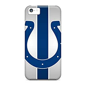 Shock Absorption Hard Cell-phone Cases For Apple Iphone 5c With Custom Colorful Indianapolis Colts Pictures PhilHolmes
