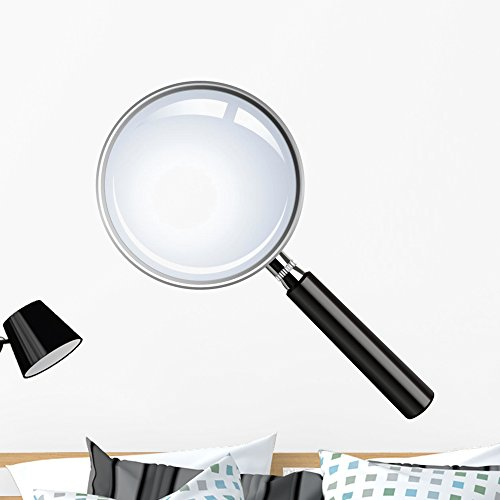 Realistic Vector Magnifying Glass Wall Decal by Wallmonkeys Peel and Stick Graphic (36 in H x 36 in W) - Glasses Vector