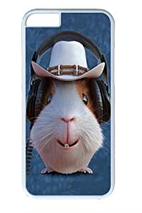 Children's Guinea Pig Cowboy Polycarbonate Hard Case Cover For HTC One M7 White