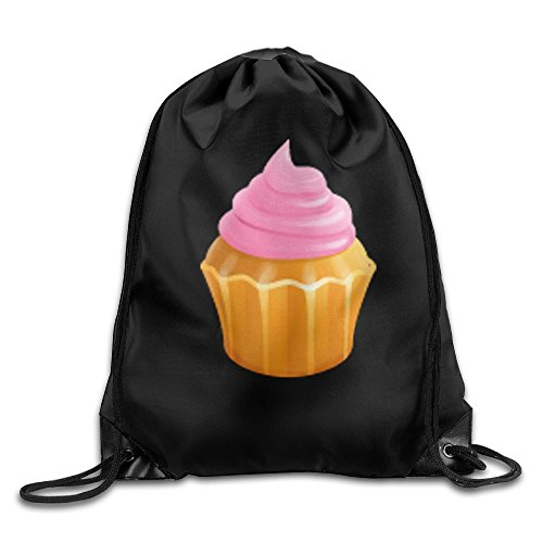 Travel Drawstring Backpacks Cream Cake Fashion Durable Sports Fan Drawstring Knapsack Bags For Shoes from trgfdlamg