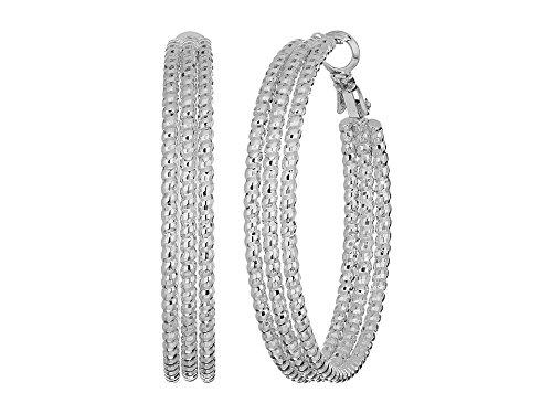 Guess Womens Earring - GUESS Silver Hoop Earrings