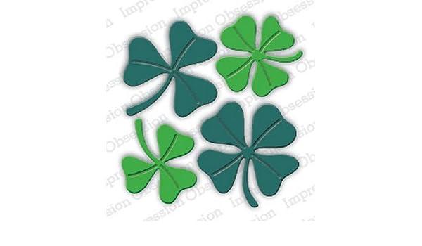 patricks Day line St Dies.. to die for metal cutting craft die 4 leaf clover