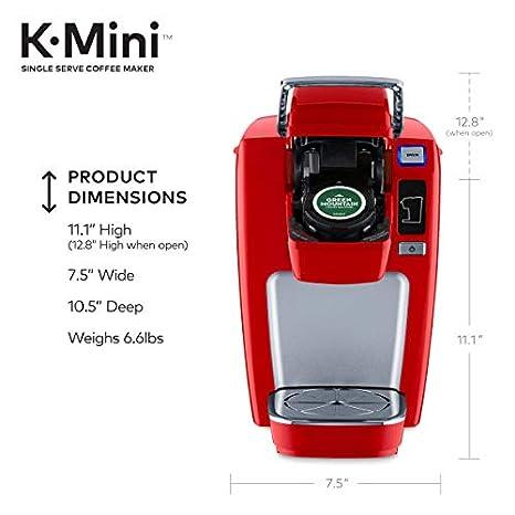 Amazon.com: Keurig - Cafetera compacta, K-Mini, Rojo (Chili ...