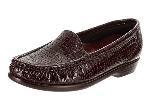 SAS Loafer Croc on Brown Slip Simple Women's SqvwFPSrx