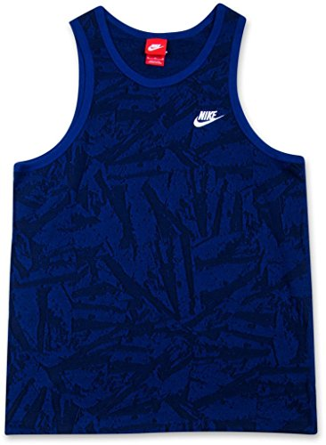 Nike Men's Solstice Futura Dark Blue/Black Training Tank Top (2XL, Blue/Black)