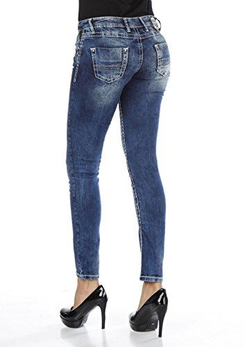Mujer Los Color Baxx Pantalones Vaqueros Cipo Para amp; Azul De qvaAIA