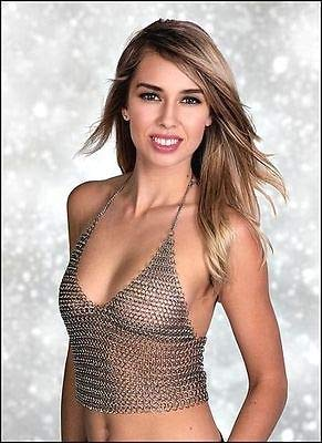 c0b73e86ad25a Image Unavailable. Image not available for. Color: QUALITYMUSICSHOP Chain  Mail Metal Halter Bra Bikini Medieval Punk Goth Lingerie Cosplay Festival