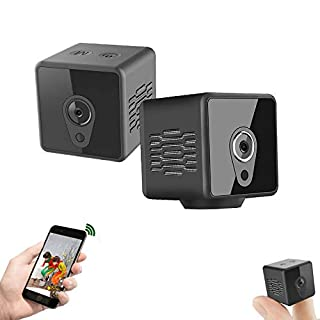 Gurmoir Mini Hidden Camera Wireless WiFi Cam.1080P Hidden WiFi Camera with Night Vision/Motion Detection/Remote Viewing/Loop Recording,Nanny/Security Camfor Indoor/Home/Office(with iOS/Android APP)