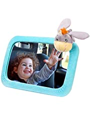 【Cute Version】Autospiegel Baby, VicTsing Rücksitzspiegel Baby Spiegel Auto (37 * 19.5CM) 360° schwenkbar mit einem niedlichen Esel Cover für Kinder in Auto