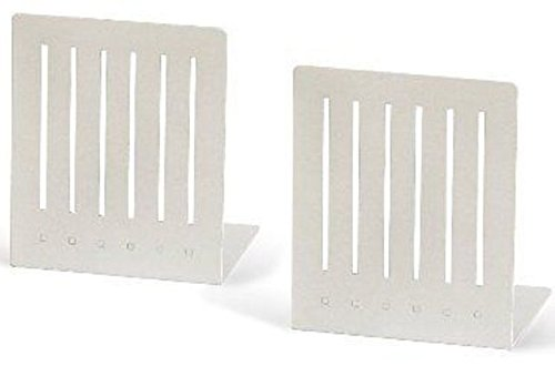 - Spectrum Large Rectangle Bookends #11200 Color: White - 2 Pairs