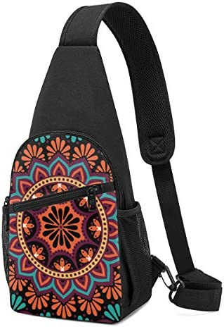 ボディ肩掛け 斜め掛け 民族風の曼荼羅 ショルダーバッグ ワンショルダーバッグ メンズ 軽量 大容量 多機能レジャーバックパック