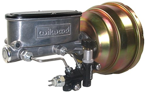 NEW GOLD ZINC POWER BRAKE BOOSTER & WILWOOD MASTER CYLINDER SET WITH ADJUSTABLE PROPORTIONING VALVE FOR 1965 - 1974 CHRYSLER, DODGE, PLYMOUTH A-BODY, B-BODY, E-BODY, 1965, 1966, 1967, 1968, 1969, ()