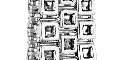 Metal Pointu's Bracelet Sudoku plaqué argent, Ø65mm