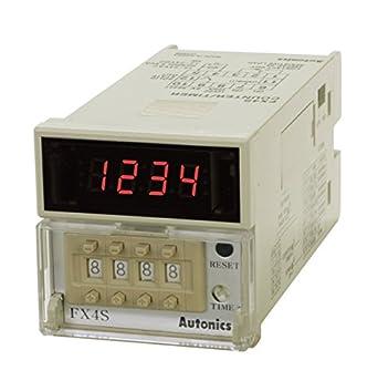 AUTONICS FX4 Counter Timer W72xH72mm 4Digit LED 1 Preset