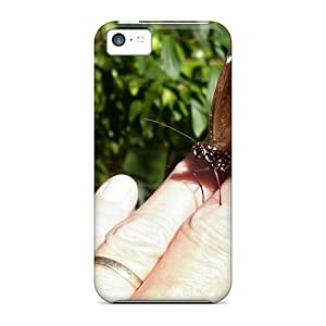 Awesome Case Cover/iphone 5c Defender Case Cover(a Butterfly Led On My H) wangjiang maoyi