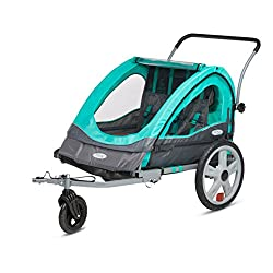 InStep Quick N EZ Double Bicycle Trailer Teal