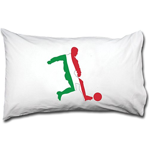 Style in Print Soccer Player Italy Bed Pillow Case Single Pillowcase by Style in Print