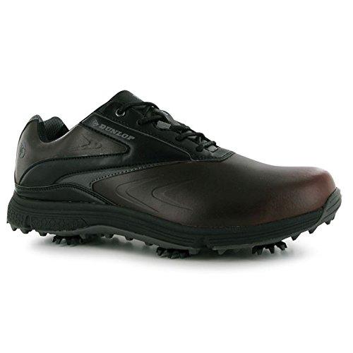 Zapatos de golf de piel para hombre, marron