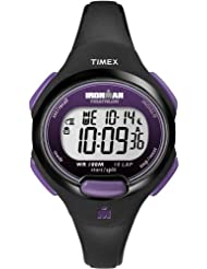 Timex Women's T5K523GP Ironman Traditional 10-Lap Black Resin Strap Watch