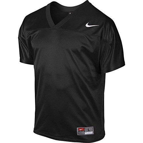 Nike Men's Core Practice Football Jersey TM Black/TM White Size Large