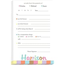 Pastel Borders Excuse Pad | Personalized School Notepads for Kids | Custom Printed School Pads | Excuse Pad | Stationery for School