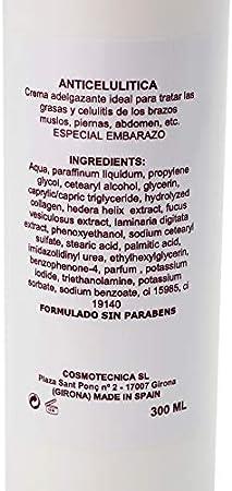 Expansión Biológica Crema Anticelulítica Eficaz Crema Adelgazante Reductora | Ingredientes Naturales Sin Parabenos 300 Ml