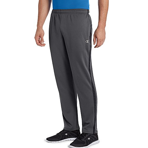 Champion Men's Double Dry Select Training Pant, Shadow Gray/Black, 2XL ()
