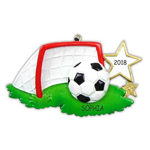 DIBSIES Personalization Station Personalized Soccer Sports Christmas Ornament -