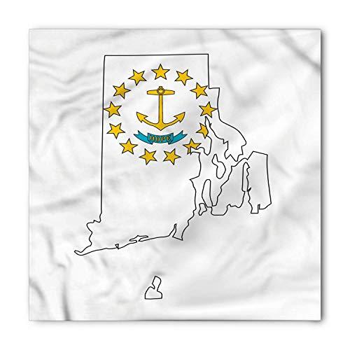 Rhode Island Bandana, Emblem Map Ocean State, Unisex Head and Neck ()