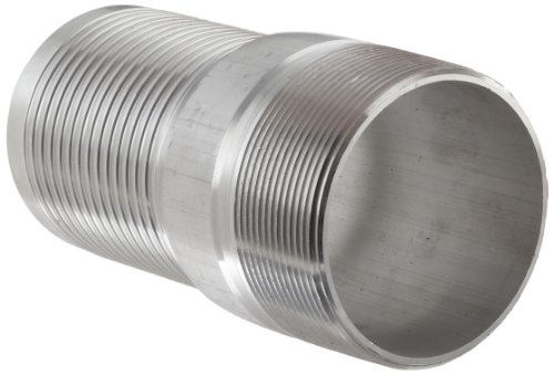 Dixon AST40 Aluminum Hose Fitting, King Combination Nipple Threaded End with No Knurl, 4