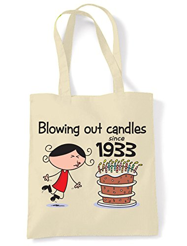 Bag Tote Women's Birthday Blowing Out 85th 1933 Since Shoulder Candles q7O0zS