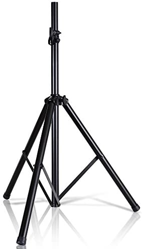 "Pyle Universal Speaker Stand Mount Holder Heavy Duty Tripod w/ Adjustable Height from 40"" to 71"" and 35mm Compatible Insert Easy Mobility Safety Pin and Knob Tension Locking for Stability PSTND2"