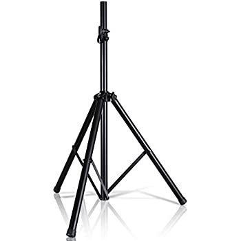 """Pyle Universal Speaker Stand Mount Holder - Heavy Duty Tripod w/Adjustable Height from 40"""" to 71"""" and 35mm Compatible Insert - Easy Mobility Safety PIN and Knob Tension Locking for Stability PSTND2"""