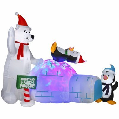 GEMMY INDUSTRIES 89898 Air blown Bear/Penguins