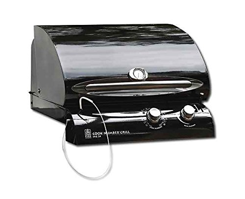 "Cook Number 24"" Black Porcelain Gas Grill Head w/24"" Install Kit Outdoor Greatroom"