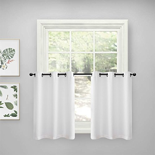 Lazzzy Kitchen Tiers Curtains for Bedroom Casual Weave Textu