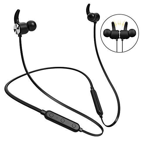 Bluetooth Headphones, Wireless Neckband Headphones with Magnetic Earbuds, 8 Hours Playtime, IPX5 Waterproof, Noise Cancelling Sports Earphones, HD Stereo Bluetooth 4.2 Headset Built-in Mic