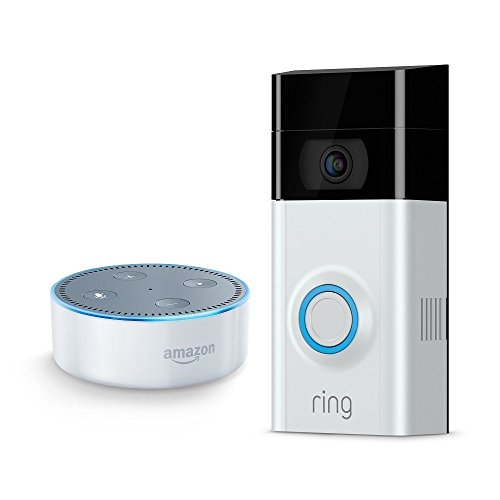 Price comparison product image Echo Dot - White + Ring Video Doorbell 2