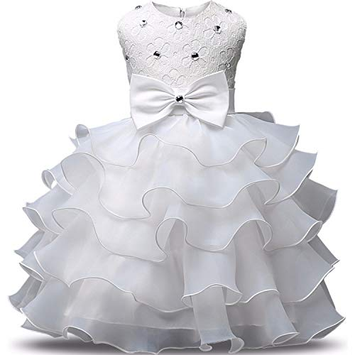 Flower Girl Dress Formal 3-8 Years Floral Baby Girls Dressess 9 Colors Wedding Party Children,As -