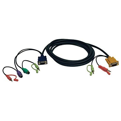 Tripp Lite 10-Feet VGA/PS2/Audio Combo Cable Kit for B006-VUA4-K-R KVM Switch (P757-010) -