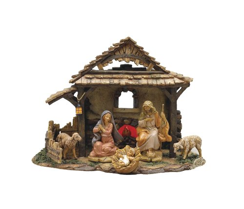 Village Stable (5 Inch Fontanini Lighted Village Stable Only 54304)