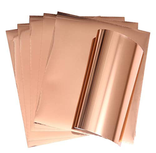 Rose Gold HTV Stretchable Metallic Foil Heat Transfer Vinyl for Apparel T-Shirt 12