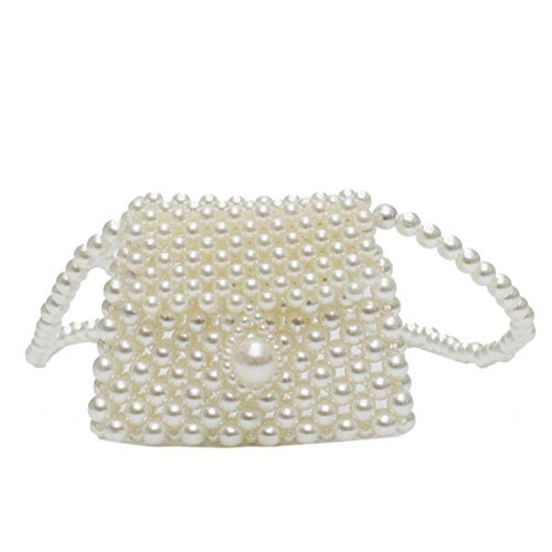 (Jiuaijinniu Purse Female Messenger Vogue Embroidery Dinner Seashell Pearl Crossbody Decorative Beaded Cute Coin Purses)