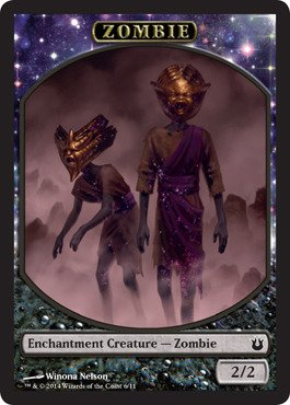 - Magic: the Gathering - Zombie Token (6/11) - Born of the Gods