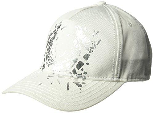 True Religion Men's Shattered Horseshoe Cap, White, OSFA
