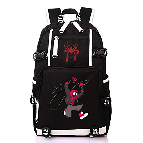 Spider Backpacks Black High Capacity Backpack School Bag Travel Bag Men's Ladies' Bag B
