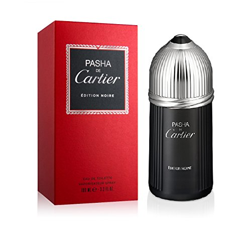 Cartier Pasha de Cartier Edition Noire Eau de Toilette Spray for Men, 3.3 Ounce