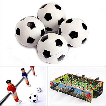 Fenghong - Juego de 4 balones de fútbol (hinchables, plástico, 32 ...