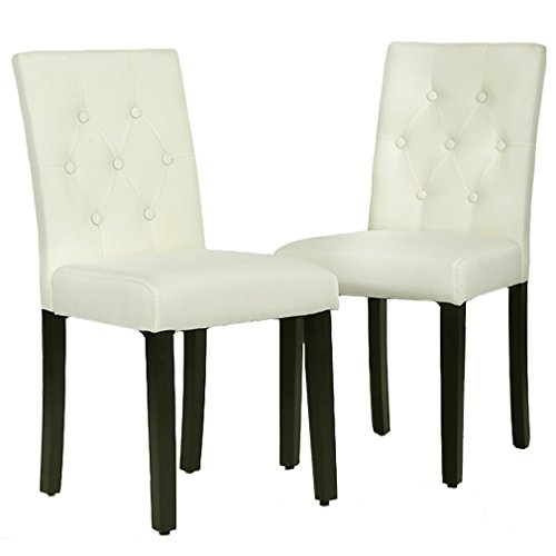 Accent Dining Room Chairs: FDW Dining Chairs Set Of 2 Wood Armless