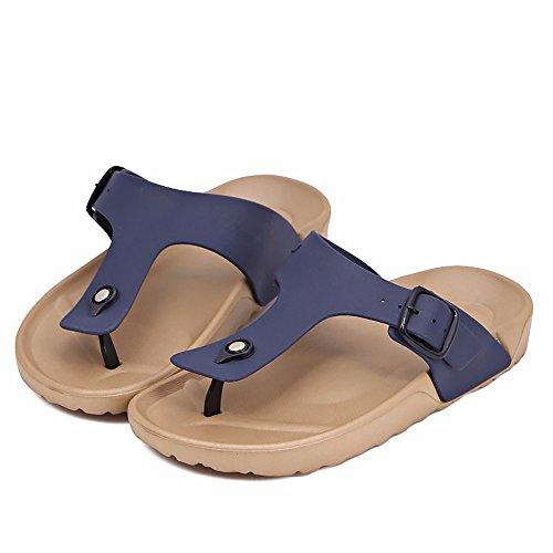 YMFIE Los Amantes de la Nueva Playa de Verano Zapatos de Moda Casual y resbaladiza derrapando pies Piscina Remolque Zapatos f
